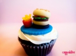 Burger & Fries Cupcake