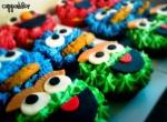 Sesame Street Cupcakes (Elmo, Cookie Monster & Oscar )